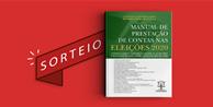 """Resultado do sorteio da obra """"Manual de Prestação de Contas nas Eleições 2020"""""""