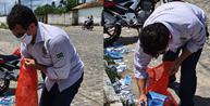 Juiz recolhe santinhos nas ruas da Bahia e papeis podem virar multa