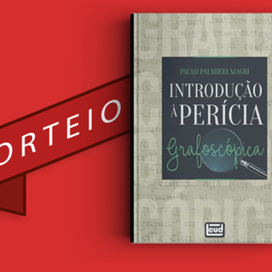 """Resultado do sorteio da obra """"Introdução à Perícia Grafoscópica"""""""