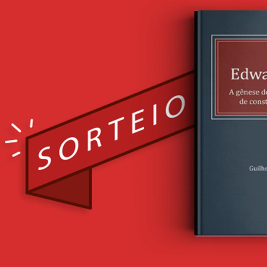 """Resultado do sorteio da obra """"Sir Edward Coke - A gênese do controle judicial de constitucionalidade"""""""
