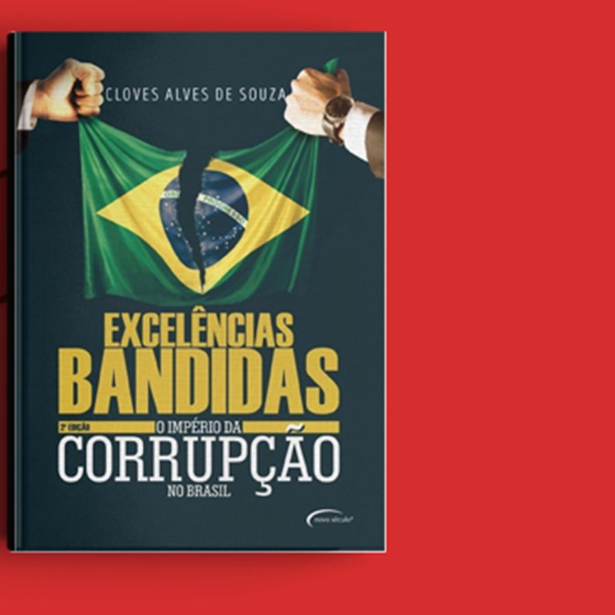 """Resultado do sorteio da obra """"Excelências Bandidas - O Império da Corrupção no Brasil"""""""