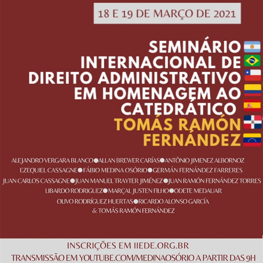 Evento internacional homenageia o catedrático Tomás Ramón Fernández