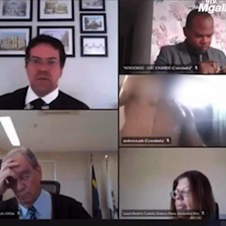 Advogado aparece tomando banho durante sessão por videoconferência