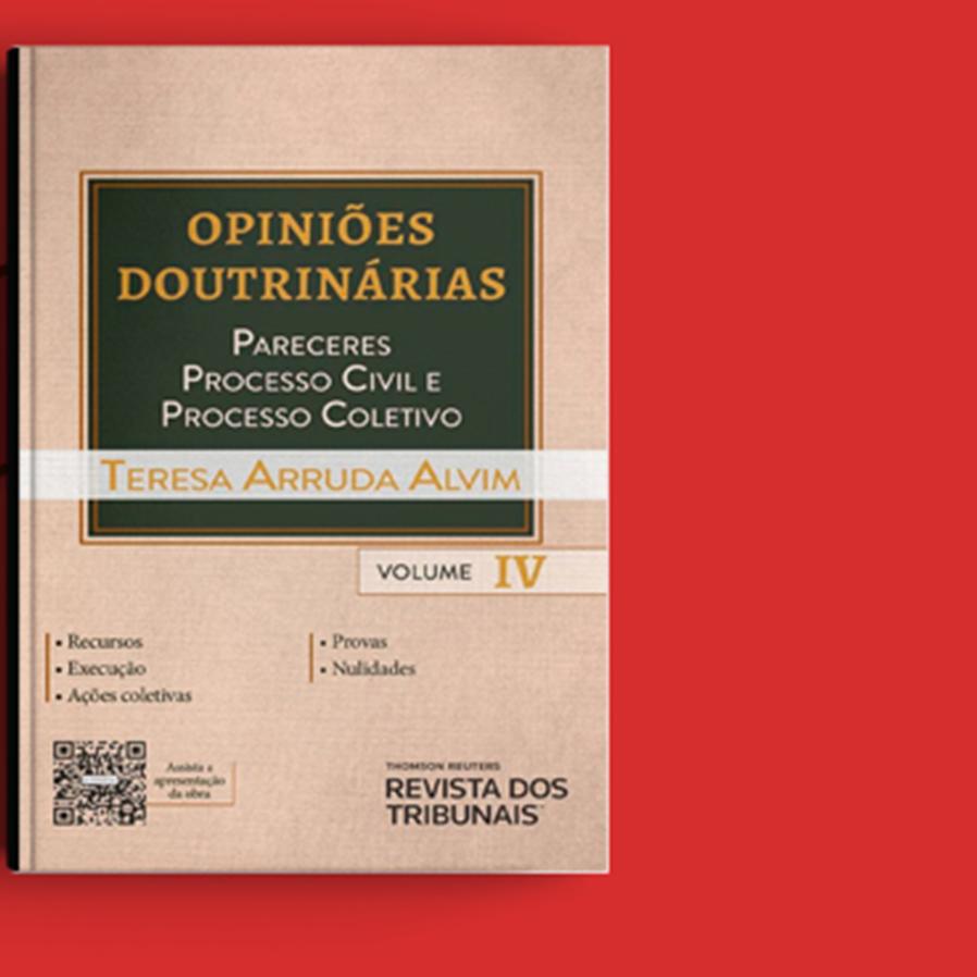 """Resultado do sorteio da obra """"Opiniões Doutrinárias – Pareceres, Processo Civil e Processo Coletivo - Volume IV"""""""
