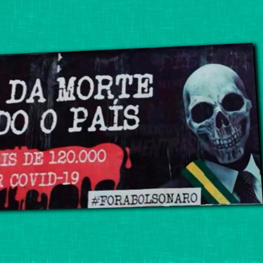"""""""Senhor da morte"""": Justiça arquiva ação de outdoor contra Bolsonaro"""