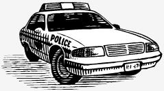 camburão policial; Escutas