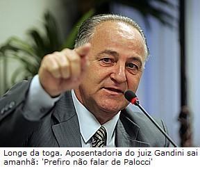 Caso Gandini; João Gandini; Aposentadoria