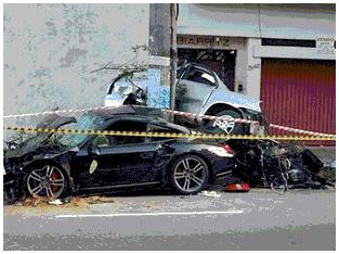 Porsche; Marcelo Malvio Alvez de Lima; Acidente; Carolina Cintra Santos