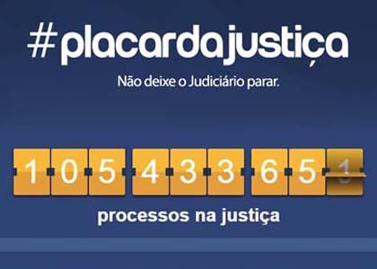 Placar da Justiça itinerante apresenta número de processos em tempo real em Brasília
