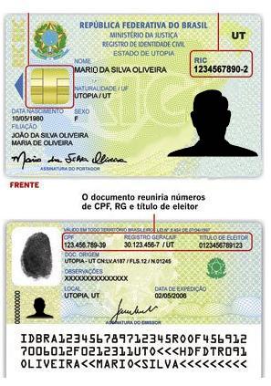 Registro de Identidade Civil; RG;