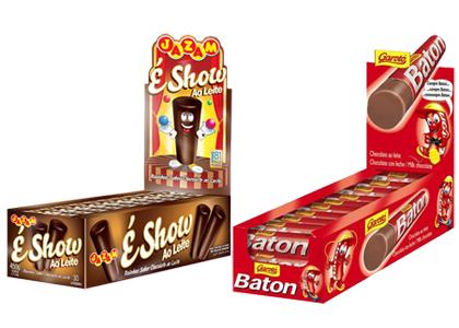 Garoto não possui exclusividade sobre formato do chocolate Baton