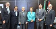 Diretores e conselheiros da AASP reúnem-se com a presidente do TRT da 2ª região