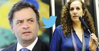 STF extingue processo de Aécio contra deputada Jandira por ofensas no Twitter