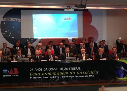 OAB homenageia 25 anos da CF