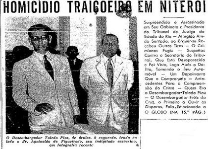 Assassinato de presidente de Tribunal consternou magistratura fluminense nos anos 50