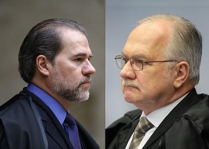 Toffoli e Fachin discutem em sessão do Supremo