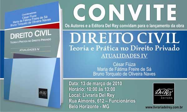 Lançamento; Direito Civil; editora Del Rey; obra; autores