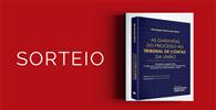 """Resultado do sorteio da obra """"As Garantias do Processo no Tribunal de Contas da União""""."""
