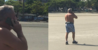 "Desembargador da ""carteirada"" é flagrado novamente sem máscara na praia"