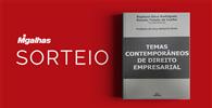 """Resultado do sorteio da obra """"Temas Contemporâneos de Direito Empresarial"""""""